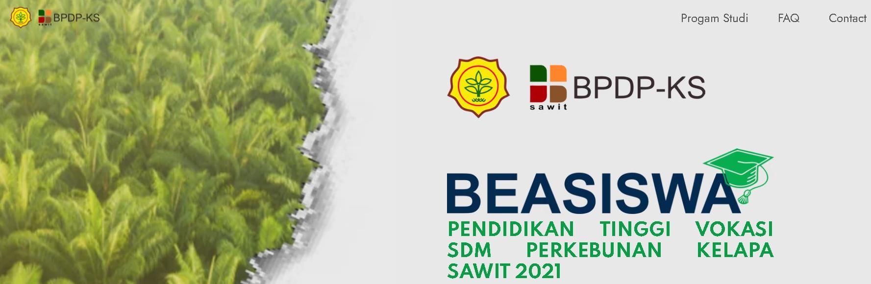 PENDAFTARAN ONLINE BEASISWA SDM SAWIT  (BPDPKS) 2021 TELAH DIBUKA